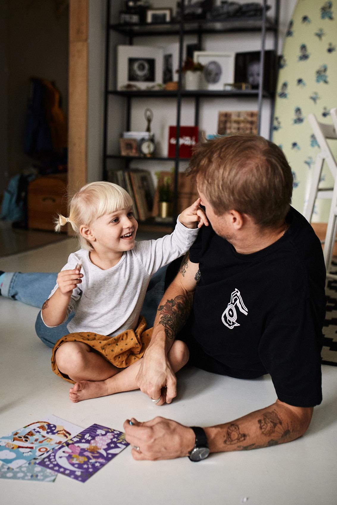 tata i corka sesja w domu warszawa