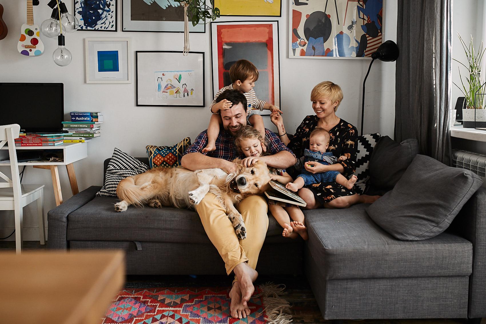 fotografia rodzinna portret warszawa w domu