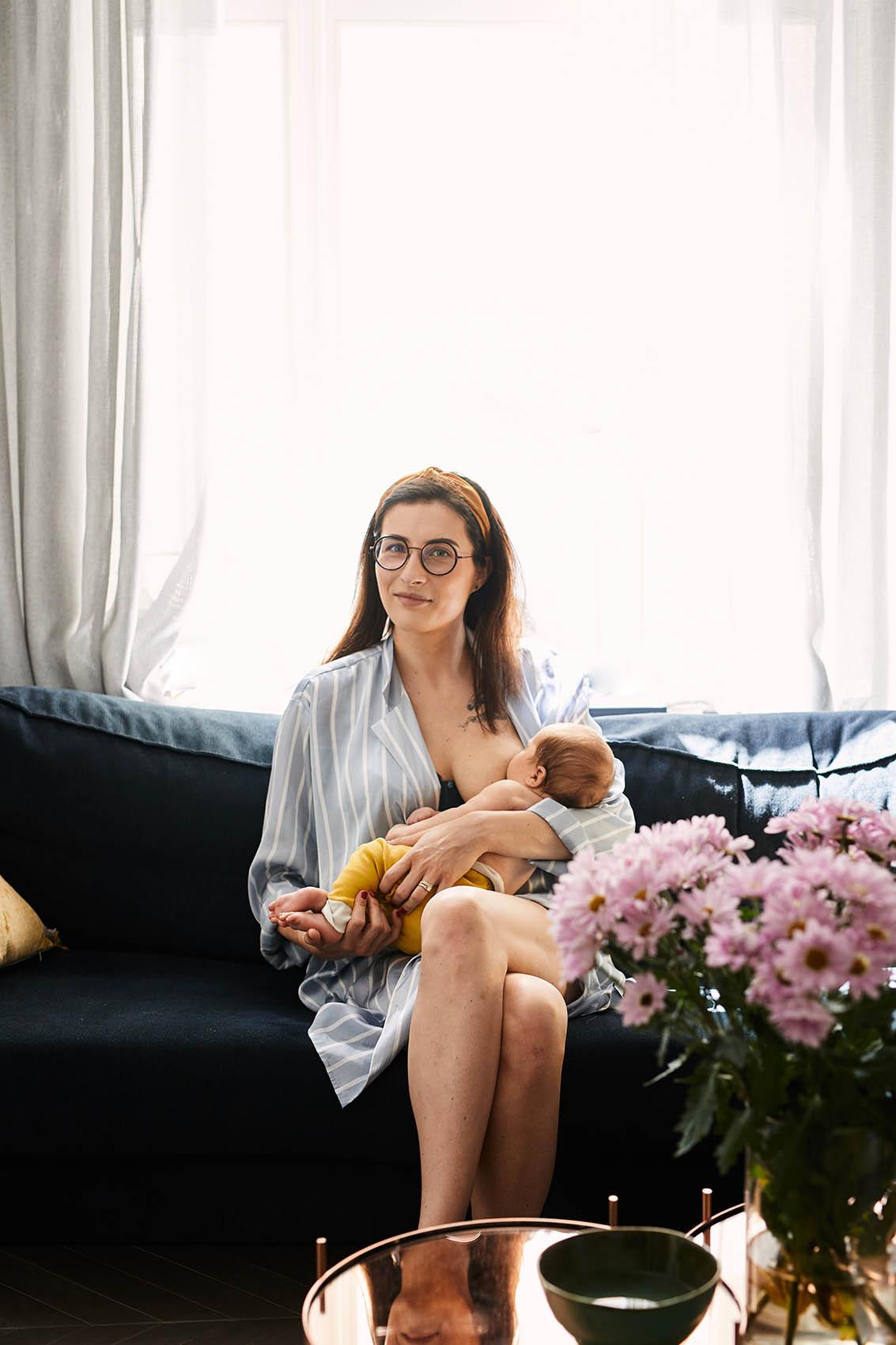 sesja karmienie piersia niemowleca warszawa fotograf