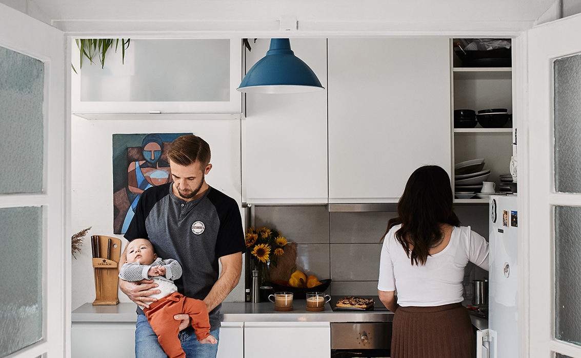 Domowa sesja rodzinna lifestyle