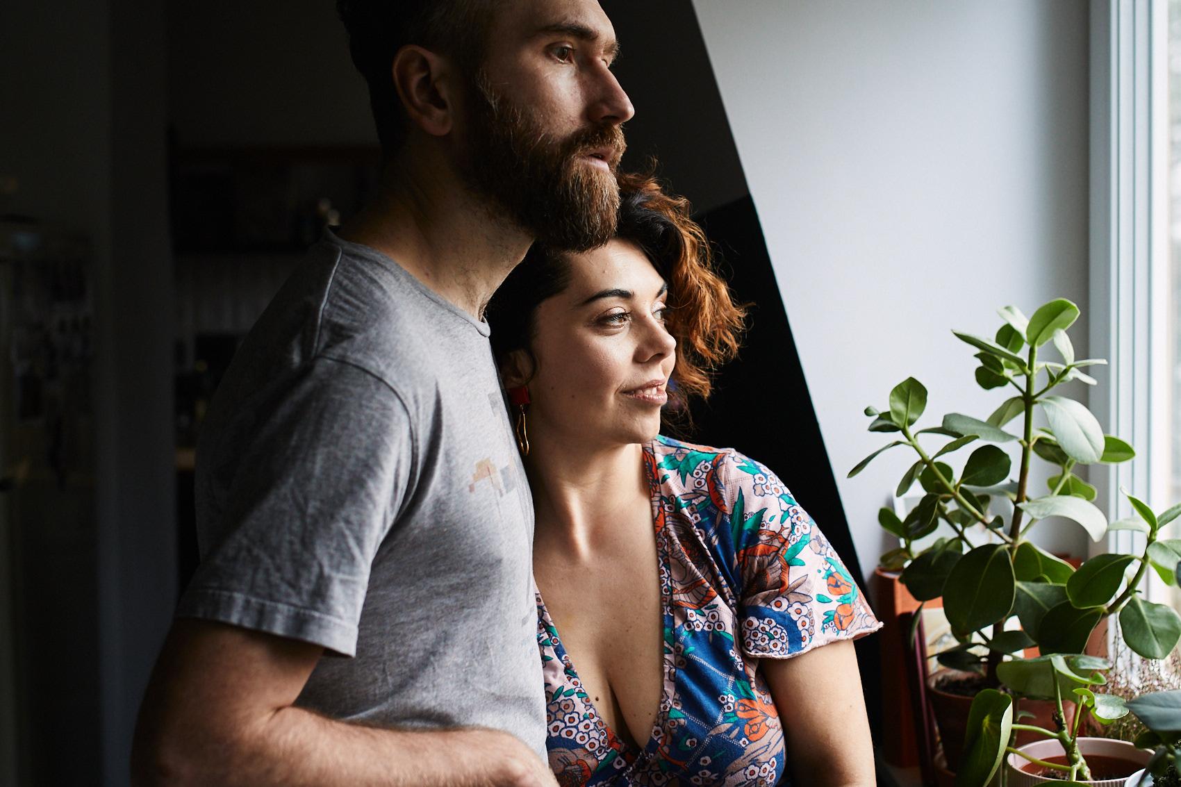 sesja narzeczenska rodzinna lifestyle maz i zona